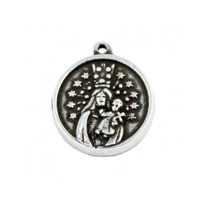 Charm Virgen de los Desamaparados en zamak y plata vieja