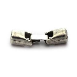 Cierre zamak de fleje 5mm. de zamak y plata para hacer pulseras