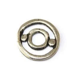 Ajustadorde zamak y plata para pulseras y colgantes