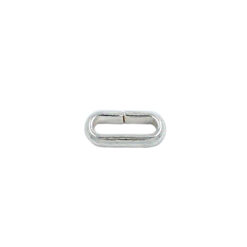 Anilla ovalada 8mm de latón bañada en plata (20 unidades)