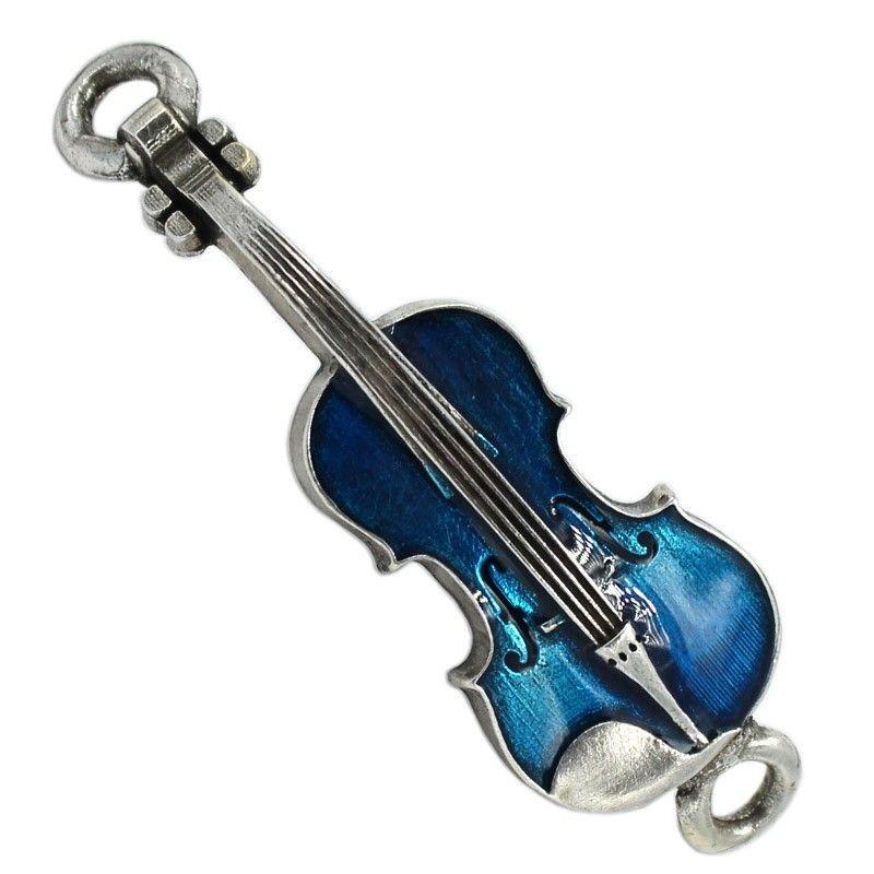 Abalorio violín de zamak en color