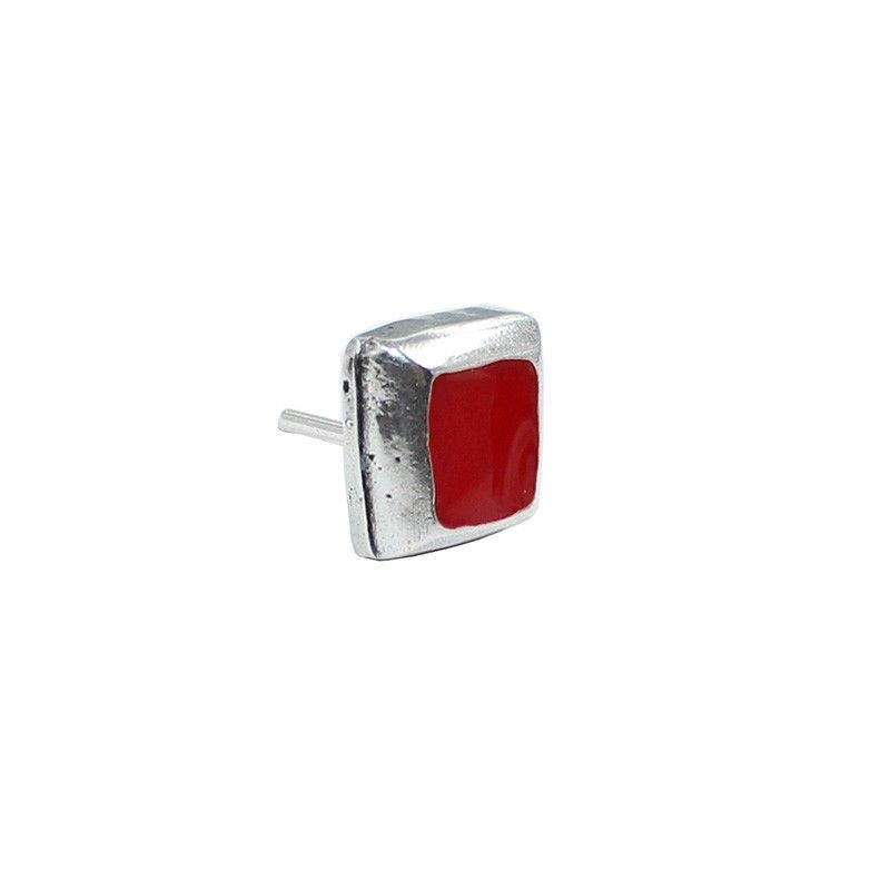 Earrings square with enamel colors