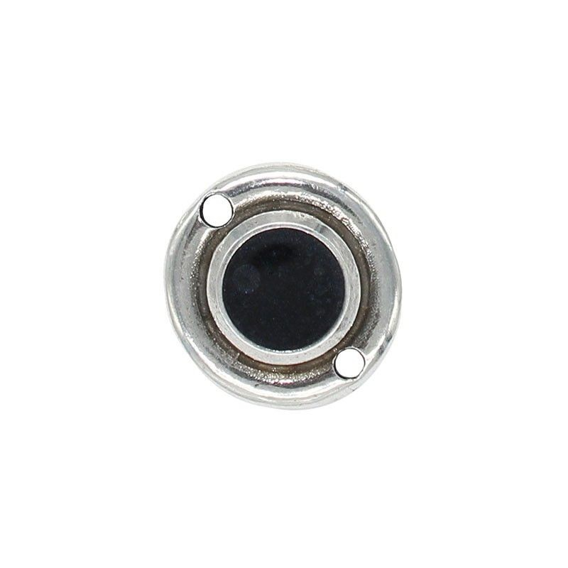 Connector round with colors, made from zamak with silver plated