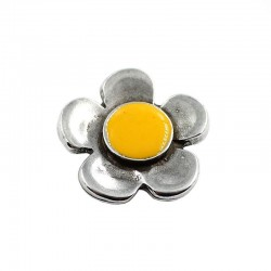 Interpiece flower color, made of zamak and silver