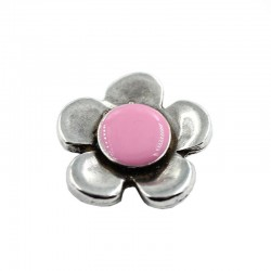 Entrepieza flower color, made of zamak and silver