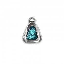 Pendant triangle of zamak with several color