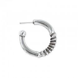 Boucle d'oreille anneau bouclés zamak et de l'argent