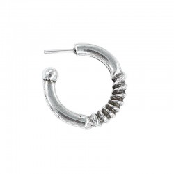 Earring ring curly zamak and silver