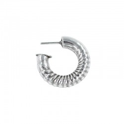 Hoop earrings thick curly made of zamak and silver