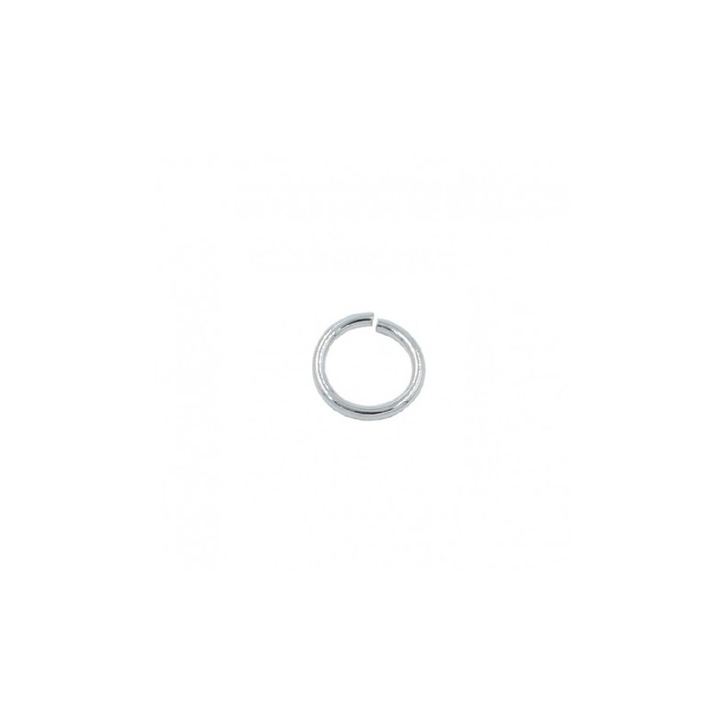 Anilla redonda de 5mm con baño de plata (20 unid.)