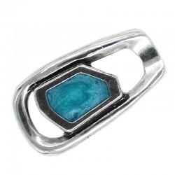 Beads for pendants, zamak, silver, and enamel colors