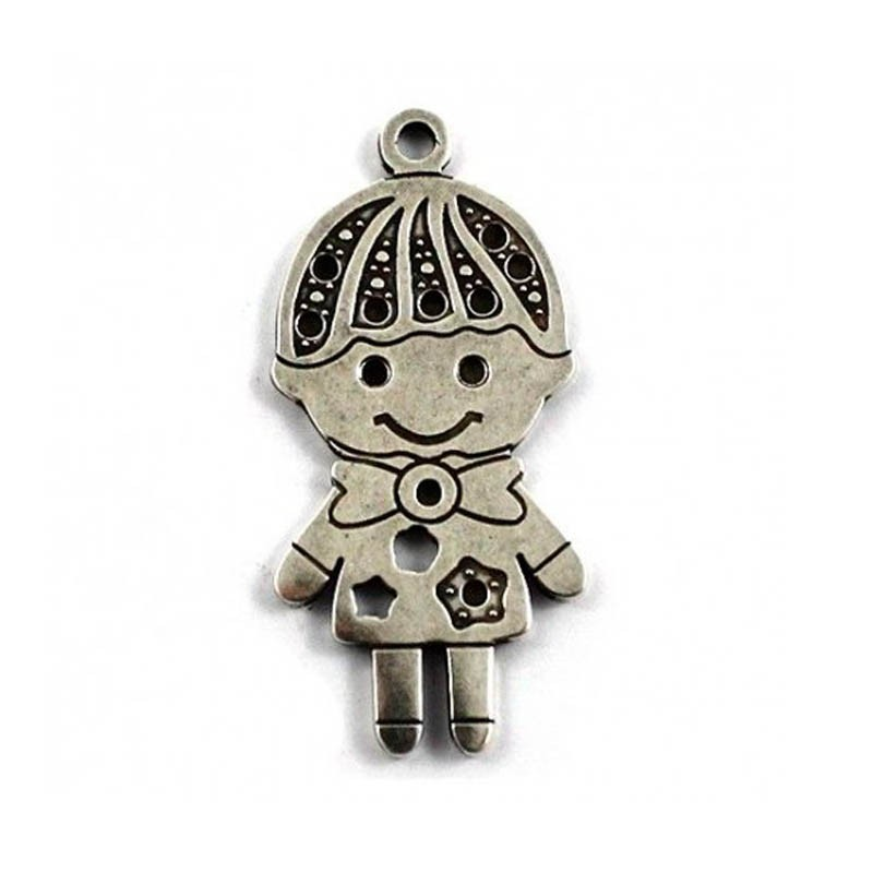 Pendant child of zamak and silver