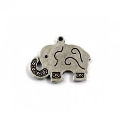Colgante elefante de zamak y plata