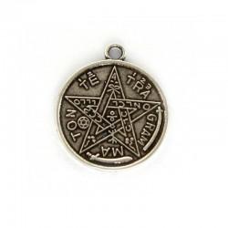 Pendant lucky coin zamak and silver