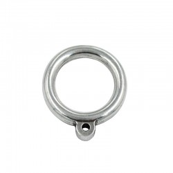 Ring thick zamak with asita, made of zamak and silver