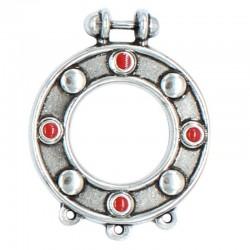 La pendaison ronde avec asitas, fabriqué en zamak et de l'argent