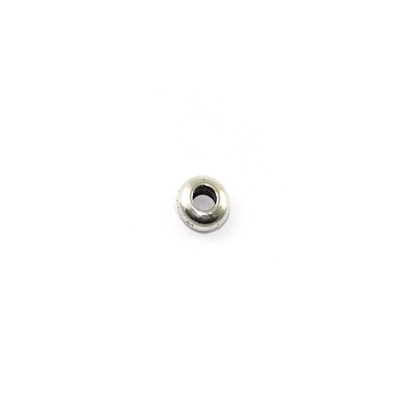Bola donuts de 7mm. hecha de zamak y plata
