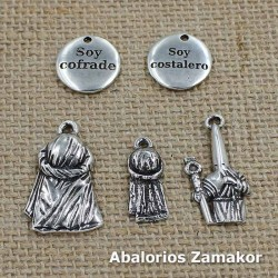 Hanging sack small in zamak and silver