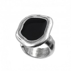 Adjustable ring uneven with enamel