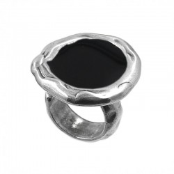 Adjustable ring round with enamels