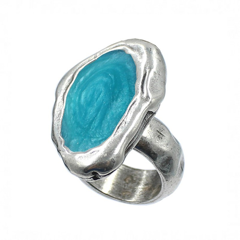 Adjustable ring with bead elongated