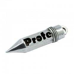 "Colgante lápiz con nombre ""profe"""