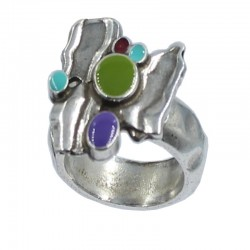 Ring zamak with enamel colors