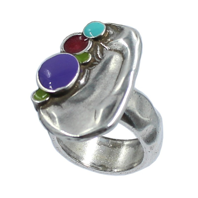 Ring zamak with colors