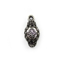 Pendant montera matador of zamak and silver