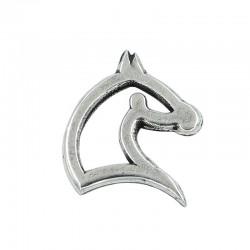 Abalorio zamak silueta caballo sin anillas