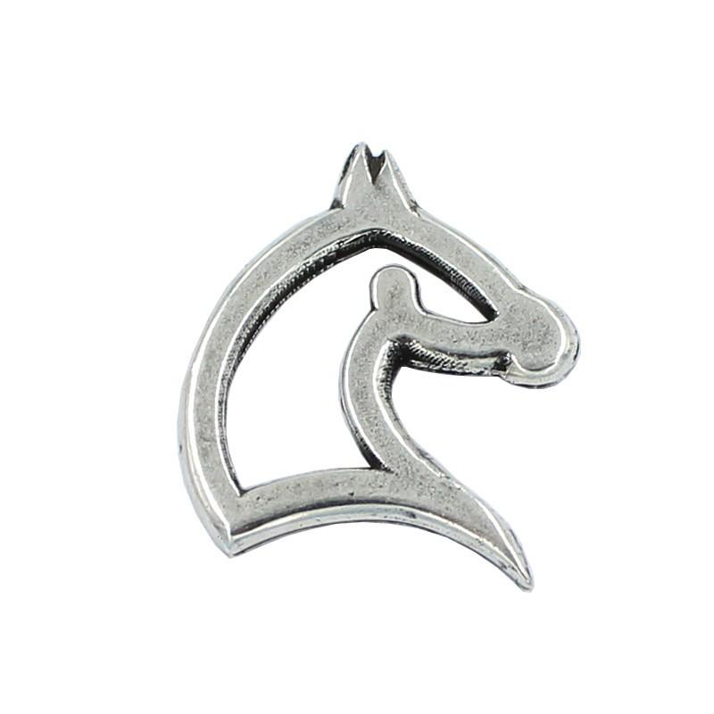 Bijou zamak silhouette de cheval sans anneaux