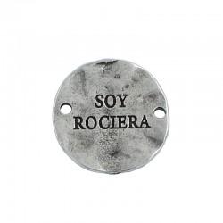 Entrepieza Virgen del Rocío en zamak y plata para hacer pulseras