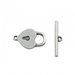 Lock heart with key
