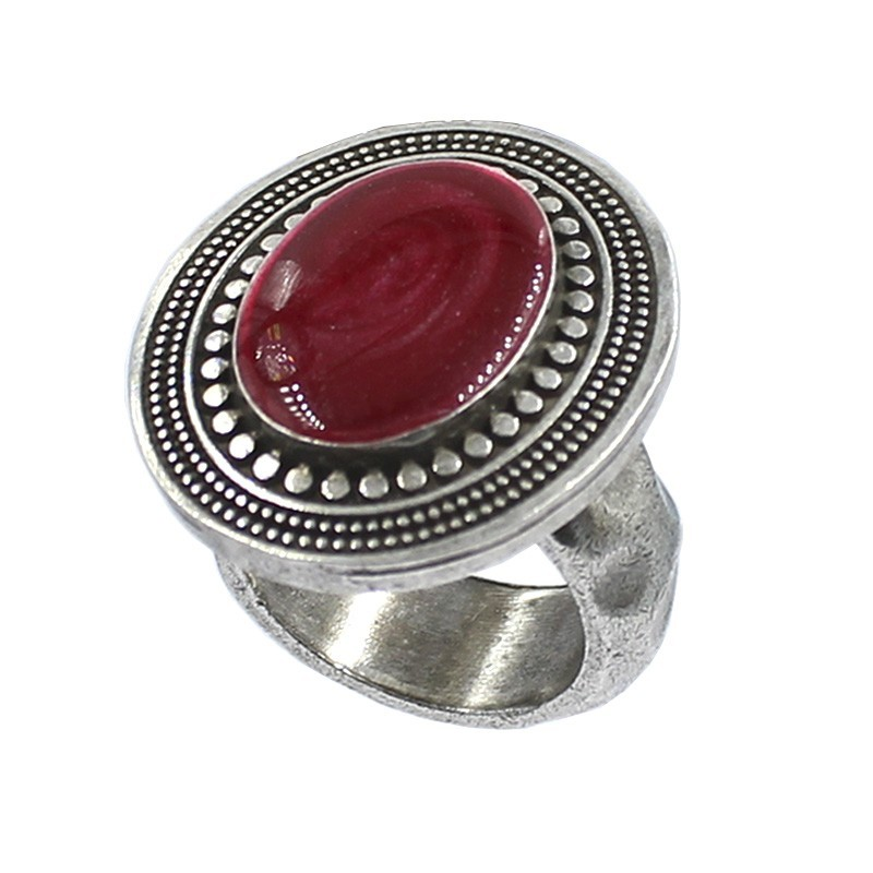 Oval ring color