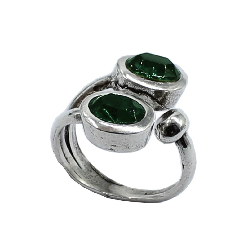 Double ring Swarovski