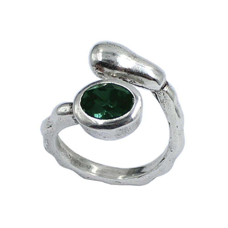 Ring Swarovski crystal oval