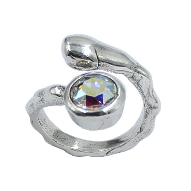 Ring Swarovski crystal round
