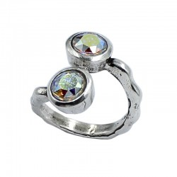 Ring Swarovski round double