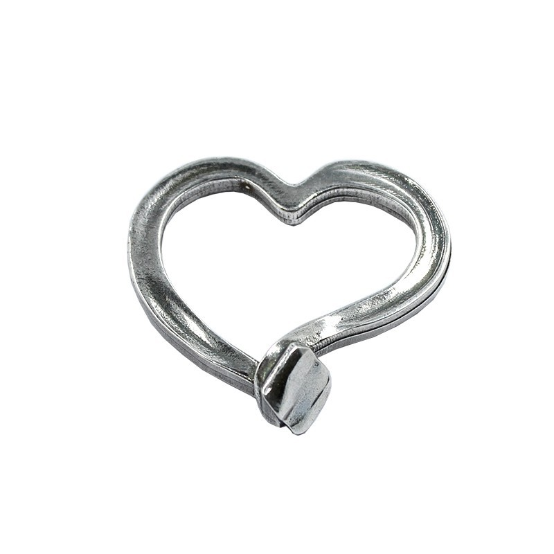 Trinket heart hammered