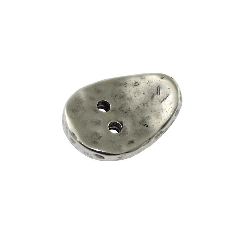 Cierre para pulseras de botón en zamak y plata