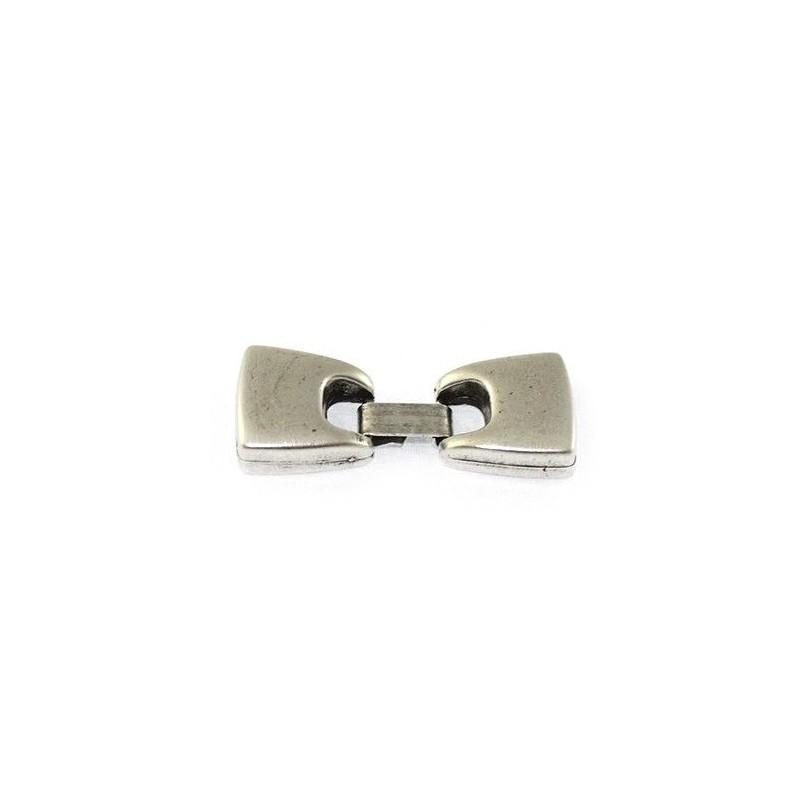 Cierre de fleje 13mm. de zamak y plata para hacer pulseras de cuero