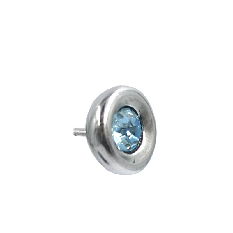 Boucles d'oreilles ronde avec cristal Swarovski