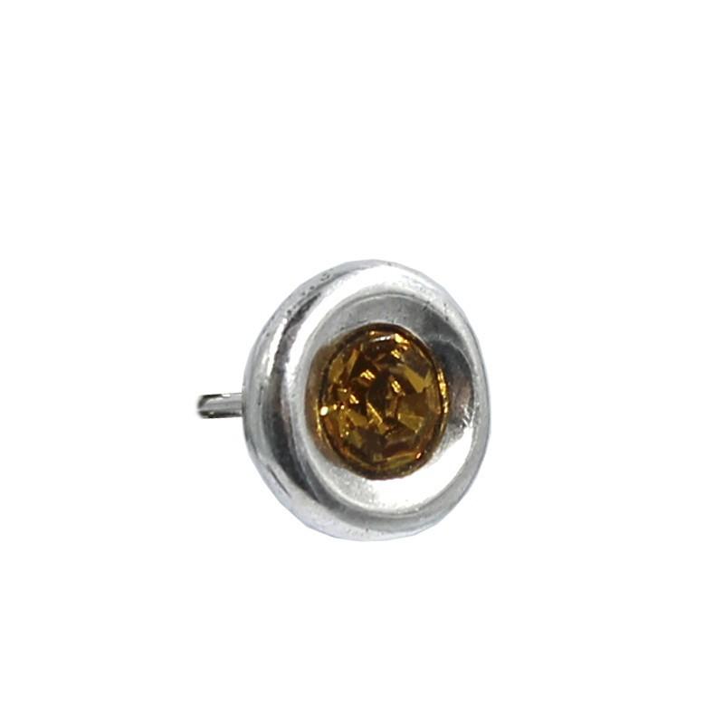Pendientes redondos con cristal Swarovski
