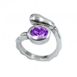 Ring Swarovski crystal oval