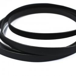 Leather flat 10mm. black