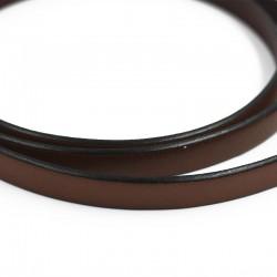 Plates en cuir brun