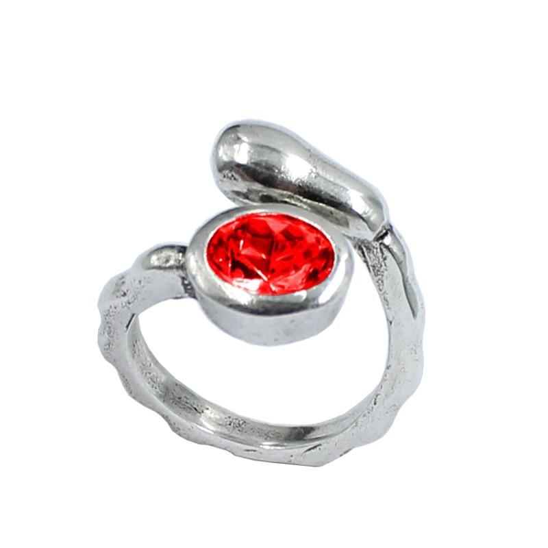 Anillo cristal Swarovski ovalado