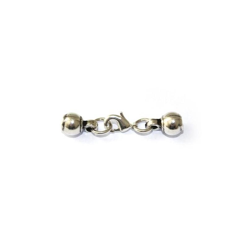 Cierre de mosquetón de zamak y plata para pulseras y colgantes