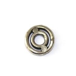 Ajustador pequeño de zamak y plata para pulseras y colgantes