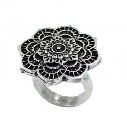 Ring rose flower mandala